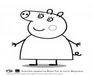 Printable mummy peppa pig coloring pages