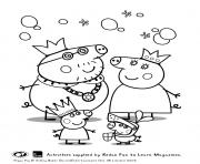 Printable peppa and family halloween peppa pig coloring pages