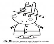Printable miss rabbit peppa pig coloring pages