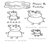 Printable peppa and family games peppa pig coloring pages