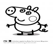 Printable george peppa pig coloring pages