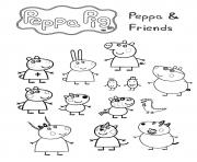 Peppa Pig coloring pages. Her family and friends. Print online | 148x180
