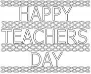 Printable Happy Teachers Day kids coloring pages