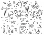 Printable teachers thank you teacher certificate coloring pages