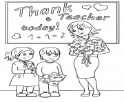 Printable thank a teacher today coloring page coloring pages