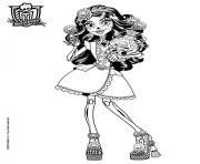 Printable skelita calaveras monster high coloring pages