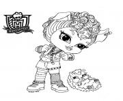 Printable monster high Chibi coloring pages