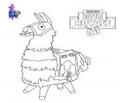 Printable Llama Fortnite coloring pages
