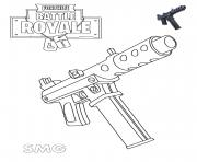 Printable Machine Pistol Fortnite coloring pages