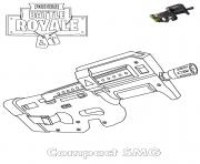 Printable SMG Fortnite coloring pages