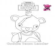 Printable Cuddle team Leader Fortnite coloring pages