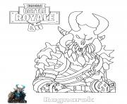 Printable Ragnarok Fortnite coloring pages