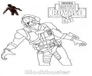 Printable Blockbuster Fortnite Skin coloring pages