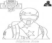 Printable Alpine Ace Skin Fortnite coloring pages