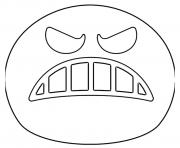 Printable Google Emoji Angry Face coloring pages