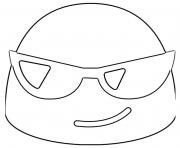 Printable Google Emoji Sunglasses coloring pages