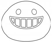 Printable Google Emoji Smiling Teeth coloring pages