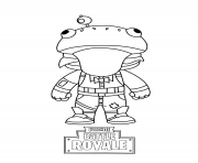 Printable fortnite mini frog coloring pages