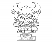 Printable fortnite mini cute the dark viking coloring pages