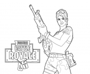 Printable Fortnite Master Grenadier coloring pages