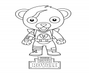 Printable cute mini cuddle team leader fortnite coloring pages