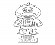 Printable mini fortnite tomatohead coloring pages