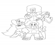 Printable steven universe garnet pearl coloring pages