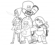 Printable steven universe character coloring pages