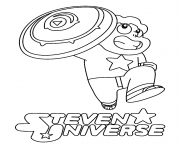 Printable steven universe shield coloring pages