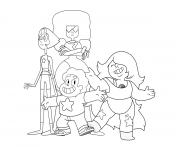 Printable steven universe characters coloring pages