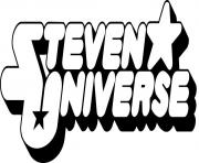 Printable steven universe logo coloring pages