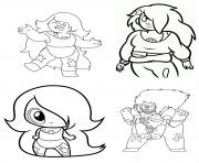 Printable amethyst Chibi Girls Steven Universe coloring pages