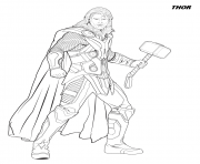 thor from the avengers coloring pages