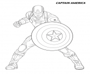 captain america from the avengers coloring pages