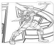 marvel avengers hawkeye coloring pages