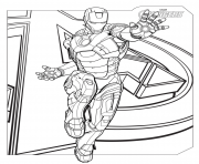 marvel avengers ironman coloring pages