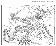 the fight continues avengers coloring pages