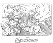 avengers marvel all characters coloring pages