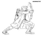 hawkeye from the avengers coloring pages