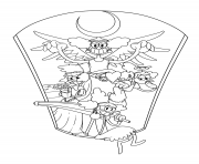 Printable cuphead angels coloring pages