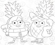 Printable gravity falls cipher coloring pages