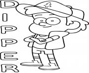 Printable gravity falls dipper coloring pages