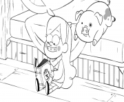 gravity_falls_mabel reading a book with his pig