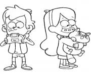 Printable disney gravity falls mabel coloring pages