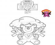 Printable Brite Bomber Fortnite Battle Royale coloring pages