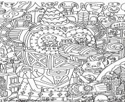 Printable anti stress adult cultura fantastique coloring pages