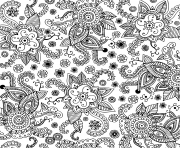 Printable seamless pattern for adults doodle graphic art coloring pages