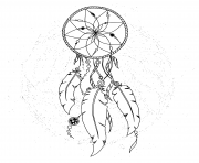 Printable dreamcatcher pattern for adult coloring pages