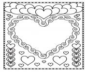 Printable valentine hearts blank coloring pages