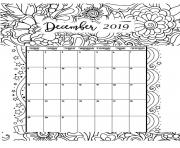 Printable december calendar 2019 coloring pages